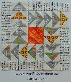 pat sloan 2014 aurifil dec block - see all my blocks and a tutorial on how to sew the Dec block! http://blog.patsloan.com/2014/11/pat-sloan-december-aurifil-block.html