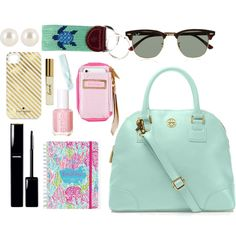What's in My Bag- tote edition, created by thegingerprep on Polyvore