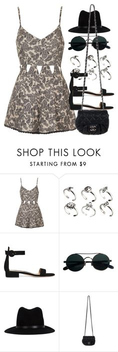 """Sin título #12465"" by vany-alvarado ❤ liked on Polyvore featuring Topshop, ASOS, Gianvito Rossi, rag & bone and Chanel"