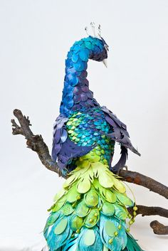 Paper Mache Peacock- gorgeous