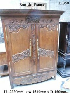 ANTIQUE FRENCH 19 th CENTURY DEEP CARVED NORMANDIE  ARMOIRE