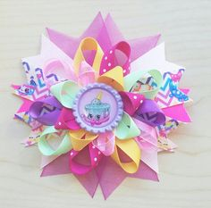 Ice Cream Kate Inspired Hair Bow Shopkins by BerryTreasured