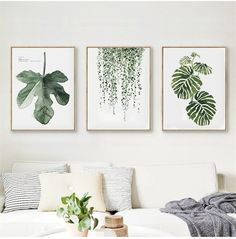 This Scandinavian style leaf art print will bring some green to your living space. It is made out of canvas and does not come with a frame. Material: Canvas Medium: Waterproof Ink Frame: No