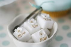 decorated sugar cubes - gold and tiffany blue sweet table shabby Cupcake Cookies, Sugar Cookies, Little Presents, Sugar Cubes, Afternoon Tea Parties, Tea Sandwiches, Wonderful Recipe, Confectionery, Tiffany Blue