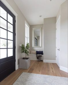 One of the ten most popular greige paint colors! Benjamin Moore Revere Pewter! Best Greige Paint Color, Driven By Decor, Nursery Neutral, Oversized Mirror, Interior Paint Colors, Painting, Furniture, Home Decor, Homemade Home Decor