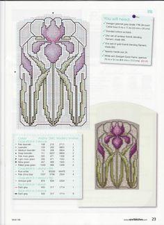 Iris cross stitch