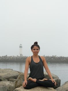 The fog welcomed me this morning.  Another perfect day for yoga.