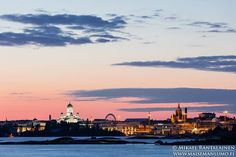 Helsinki skyline 45 minutes after sunset Suomenlinna, Helsinki, Finland (13.9.2015)