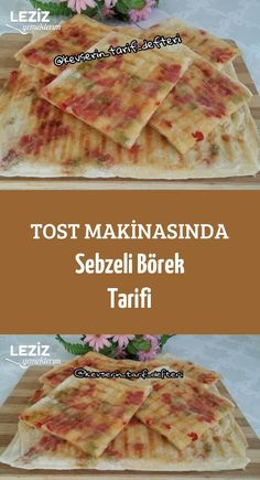 Vegetable Pie Recipe with Toaster - Pizza Recipes Pizza Recipes, Chicken Recipes, Toaster, Vegetable Pie, Food Plus, Turkish Kitchen, Bread Baking, Food Photography, Food And Drink