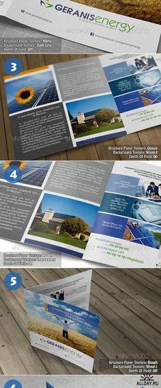 Square Bi-Fold Brochure Mock-Up 5251895