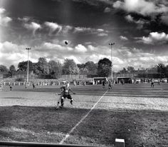 Midfield battle. Chadderton FC. North West Counties League.