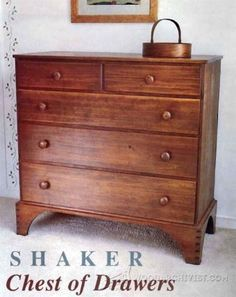 Tall Chest of Drawers Plans - Furniture Plans and Projects | WoodArchivist.com
