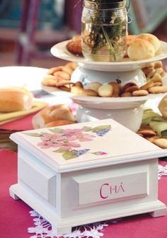 Caixa de chá com découpage / DIY, Craft, Upcycle