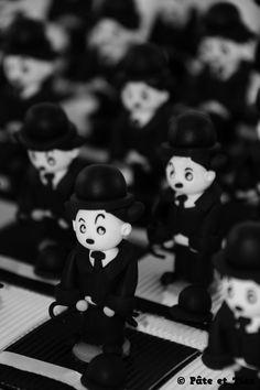 Boîtes à dragées Charlie Chaplin