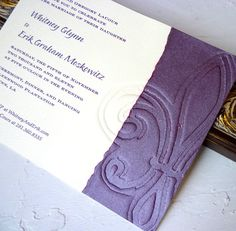 Fleur de Lis Wedding Invitation by melina on Etsy, $6.60