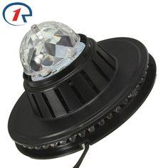 Girasol ZjRight 3 W Todo Color de Luz LED de La Lámpara Del Bulbo Auto Rotating MP3 de Cristal Luz de la Etapa DJ efecto de luz KTV Del Club Del partido de la Familia