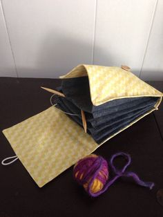 Your place to buy and sell all things handmade Knitting Needle Storage, Yarn Bowl, Circular Knitting Needles, Knitting Accessories, Honeycomb, Printing On Fabric, Organization, Yellow, Etsy