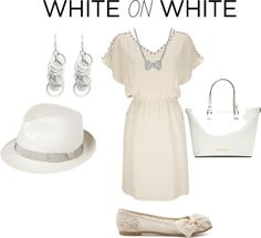 """""""White on white"""" by preety-s on Polyvore"""