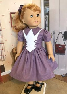 Your place to buy and sell all things handmade Cute Baby Dresses, Girls Smocked Dresses, Dresses Kids Girl, Girl Outfits, American Girl Dress, American Doll Clothes, American Girls, Baby Girl Dress Patterns, Doll Dress Patterns