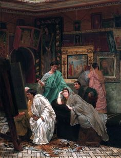 The Athenaeum - A Collection of Pictures at the Time of Augustus (Sir Lawrence Alma-Tadema - )
