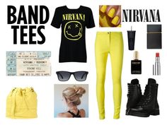 """""""NIRVANA outfit"""" by cissyloveshogwarts on Polyvore featuring Mode, Boohoo, Ann Demeulemeester, Capezio, Elizabeth and James, Chantecaille, Boutique Moschino und GlassesUSA"""