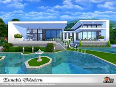 The Sims Resource: Ennabis Modern house by autaki • Sims 4 Downloads