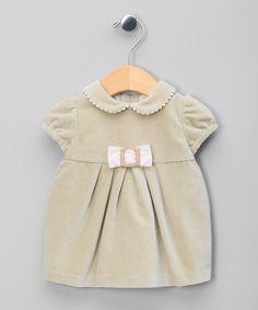 Olive Velour Dress - Infant, Toddler & Girls