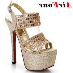 37.81$  Buy here - https://alitems.com/g/1e8d114494b01f4c715516525dc3e8/?i=5&ulp=https%3A%2F%2Fwww.aliexpress.com%2Fitem%2FENMAYER-Rhinestone-16cm-Fashion-Crystal-Women-s-Sandals-shoes-for-women-High-Quality-Princess-Shoes-Platform%2F32321158851.html - Airfour Rhinestone 16cm Extra High Heels Party Pumps Crystal Platform Women's Sandals Shoes Women Princess Shoes Gold Silver