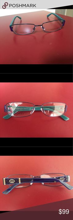 Gucci 2877 optical frame Authentic Gucci frame NEW, deep purple and teal with Gucci logo on the temples Gucci Accessories Glasses