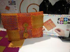 Schacht ZOOM Loom iPad case project Weaving Projects, Crafty Projects, Simple Projects, Pin Weaving, Loom Weaving, Cotton Clouds, Weaving Patterns, Weaving Techniques, Loom Knitting