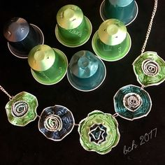 Nespresso art- necklace made of coffee capsules