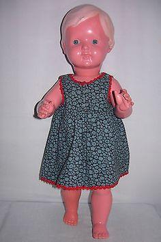 Altes-Puppen-KLEID-50er-Jahre-fuer-eine-49er-Puppe