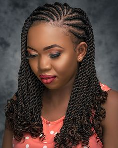 Braided Cornrow Hairstyles, Faux Locs Hairstyles, African Braids Hairstyles, Twist Hairstyles, Protective Hairstyles, Hair Twist Styles, Natural Hair Styles, Short Hair Styles, Braids With Curls