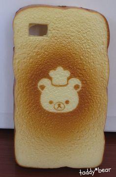 Rilakkuma *CHEF* Kawaii Bread Toast Squishy Phone Case Cover For iPhone 4 / 4s