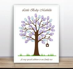 Baby Shower Printable Thumbprint Tree Guest Book by ByYolanda