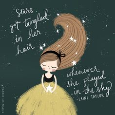 Tangled Stars. ✨ Cassie Loizeaux 2018.  #lainitaylor #girl #stars #night #hair #dress #play #art #sketch #digital #drawing #ipadpro #lettering #clsketchbook2018 Ipad Pro, Laini Taylor, Doodle People, Drawing Stars, Doodle Paint, Sketchbook Project, Night Hair, Stars At Night, Baby Art