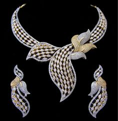 Indian Bridal CZ AD Gold & Silver Bollywood Bridal Necklace Swam Jewelry 712 #Unbranded