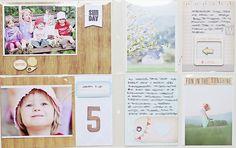 Project Life in a mini album by Magda Mizera