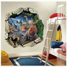 Jurassic World Dinosaur Wall Decals Sticker for Kids Nursery Room Decor Vinyl #Unbranded #ArtDecoStyle