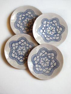 Keramik wand teller kunst keramik keramik mit spitze relief wand deko modern keramik haus - Wandteller modern ...
