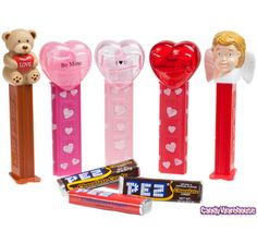 Valentines PEZ Candy Packs