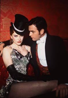 Nicole Kidman and Ewan McGregor in Moulin Rouge.