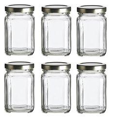 Nakpunar 6 pcs, 6 oz Square Glass Jars for Jam, Honey, Wedding Favors, Shower Favors, Baby Foods, DIY Magnetic Spice Jars Nakpunar http://www.amazon.com/dp/B011LCASZ2/ref=cm_sw_r_pi_dp_UhsYwb1FH186P
