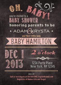 Printable Coed optional baby girl shower by PaisleyDayneDesigns, $12.00