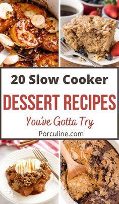 Slow Cooker Recipes Dessert, Crock Pot Desserts, Lunch Recipes, Seafood Recipes, Crockpot Recipes, Dessert Recipes, Dinner Recipes, Cooking Recipes, Healthy Recipes