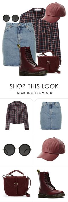 """""""Football Classic"""" by chelsofly on Polyvore featuring Elizabeth and James, Topshop, The Row, Charlotte Russe, IMoshion and Dr. Martens"""