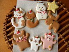 animal christmas sugar cookies :)