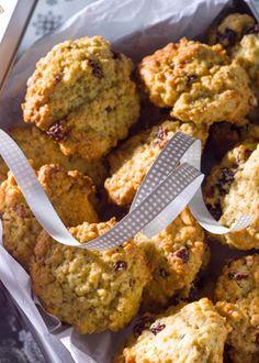 Cookies de aveia e mirtilos