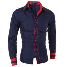 db6e6d90f461eb ... Button Male Long Sleeved Shirt Casual Slim Male Shirts XXL VYHKA-in  Casual Shirts from Men's Clothing & Accessories on Aliexpress.com | Alibaba  Group