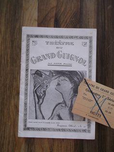 1920s Theatre du Grand Guignol Program Paris